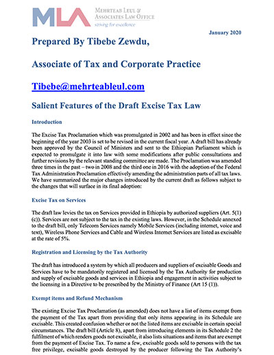 Tax and Corporate Practice